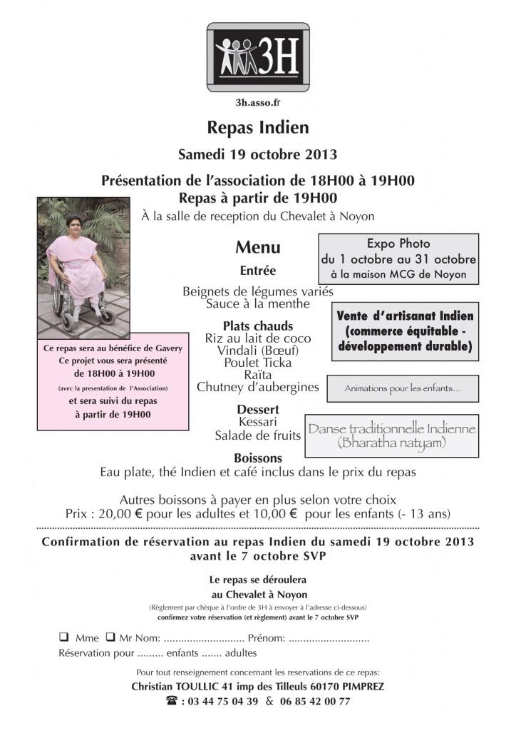 Repas  Indien 19 10 2013