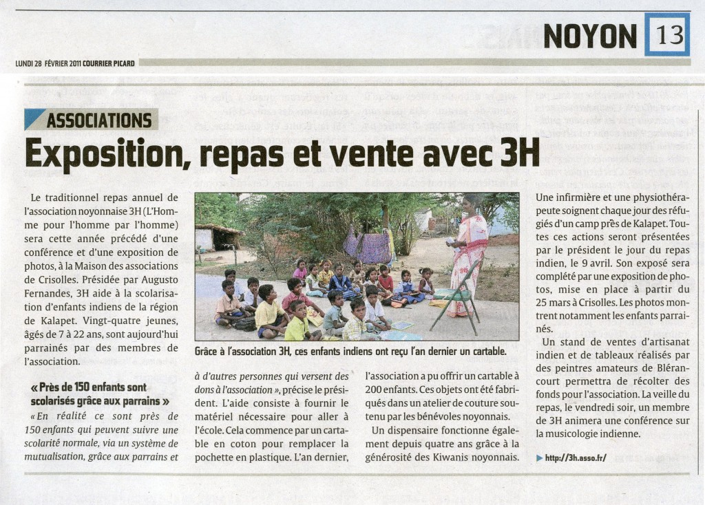 Courrier Picard 28 02 2011