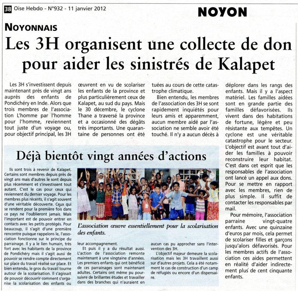 Oise Hebdo - N°932 11 01 2011 mail